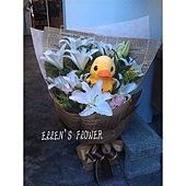 [AC075] 暖暖小鴨__百合玫瑰花束$1999.jpg