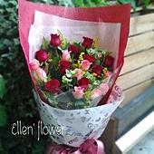 [AE003]愛的秘密__18朵玫瑰花束$1450.jpg