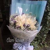 [AE006]藍色愛情海__33朵白玫瑰花束$1999.jpg