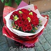 [AE007]紅色吾愛__33朵紅玫瑰花束$1999.jpg