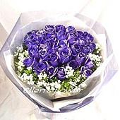 [AE021]藍色月光__33朵藍玫瑰花束$2399.jpg