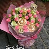 [AE022]甜蜜心事__20朵粉玫瑰花束$1499.jpg