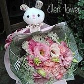 [AE029] Lady Q兔_9朵粉玫瑰花束$1450.jpg