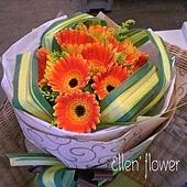 [AE023]有你有我__10朵太陽花花束$1399.jpg