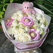 [AE034] 認識你真好 _20朵白玫瑰 花束$1499.jpg