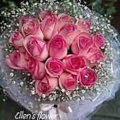 [AE039]尋找幸福 __20朵粉玫瑰花束$1799.jpg