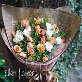 [AE045] 溫暖我心 __20朵香檳玫瑰花束$1599.jpg