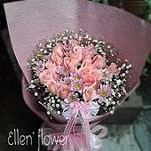 [AE048] 雨後風景 __20朵粉玫瑰花束$1450.jpg