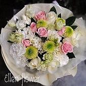 [AE049] 歲月悠悠 __11朵粉白玫瑰花束$1499.jpg