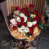 [AE050] 點燃我心 __20朵紅玫瑰花束$1899.jpg