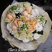 [AE051] 小小星願__9朵香檳玫瑰花束$1499.jpg