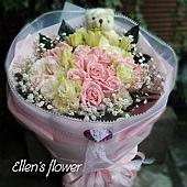 [AE054] 愛的笑顏__20朵粉玫瑰花束$1699.jpg
