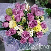 [AE055] 花開時節__20朵紫玫瑰花束$2199.jpg