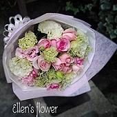 [AE056] 幸福微風__11朵粉玫瑰花束$1299.jpg