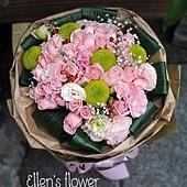 [AE057] 分享愛_33朵粉玫瑰花束$2299.jpg