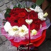 [AE061] 一心一意 __30朵紅玫瑰花束$1999.jpg