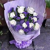[AE062] 真情告白 __11朵白玫瑰花束$1299.jpg