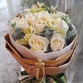 [AE065] 簡單愛_11朵白玫瑰花束$1399.jpg