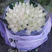 [AE067] 白色戀曲 __50朵白玫瑰花束$2699.jpg