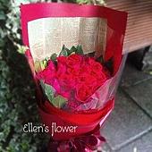 [AE069] 紅色吟詩__24朵紅玫瑰花束$1599.jpg
