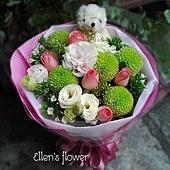 [AE071] 微笑能量__5朵粉玫瑰花束$1199.jpg