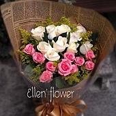 [AE088]緊緊相依__20朵玫瑰花束$1450.jpg