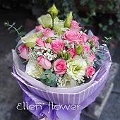 [AE091] 真心付出__20朵粉玫瑰花束$1499.jpg