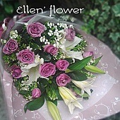 [AE092] 紫色第六感__11朵紫玫瑰花束$1999.jpg