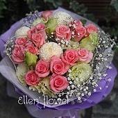 [AE090] 輕舞飛揚__20朵粉玫瑰花束$1599.jpg