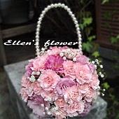 [AE093] 珍愛_粉康乃馨珍珠提包$1499.jpg
