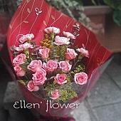 [AE096] 歡馨喜願_康乃馨玫瑰花束$1699.jpg