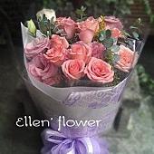 [AE099]永遠愛你__11朵粉玫瑰花束$1399.jpg