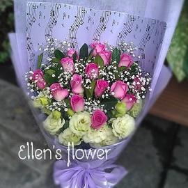 [AE113] 美麗的音符__15朵紫玫瑰花束$1599.jpg