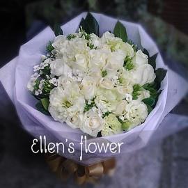 [AE111] 寄語相思__20朵白玫瑰花束$1650.jpg