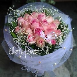 [AE108] 珍珠情懷__20朵粉玫瑰花束1799.jpg