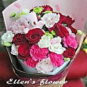 [AE119] 甜蜜笑容__康乃馨玫瑰花束$1599.jpg