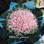 [AG020] 我願意_100朵粉玫瑰花束$6200.jpg