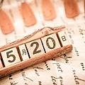 婚紗拍攝道具-木質日期日曆