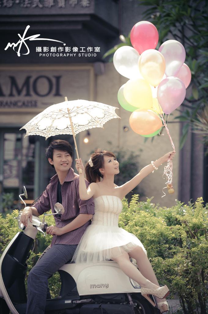 【高雄婚紗】【景點推薦】【婚紗照】馬列巴黎小商人