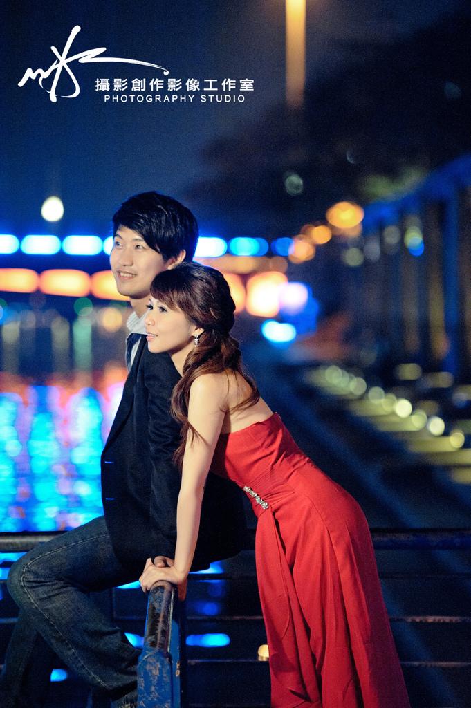 【高雄婚紗】【景點推薦】【婚紗照】愛河-愛河夜景