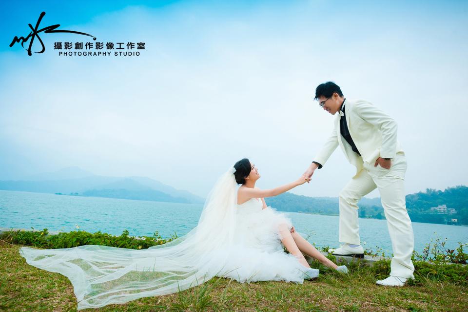 自助婚紗婚紗照-日月潭-感謝榮輝&佳音推薦