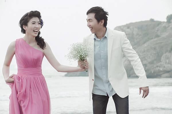 海岸婚紗照