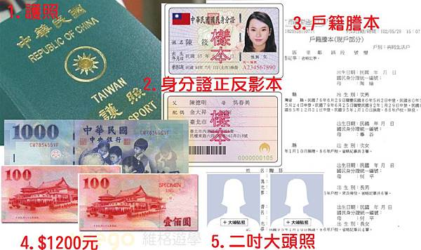 Filipino visa to be prepared 1. Passport original 2. Identity card positive and negative photocopying 3. Household registration transcript 4.1200 NT 5. Two inches of big picture .jpg