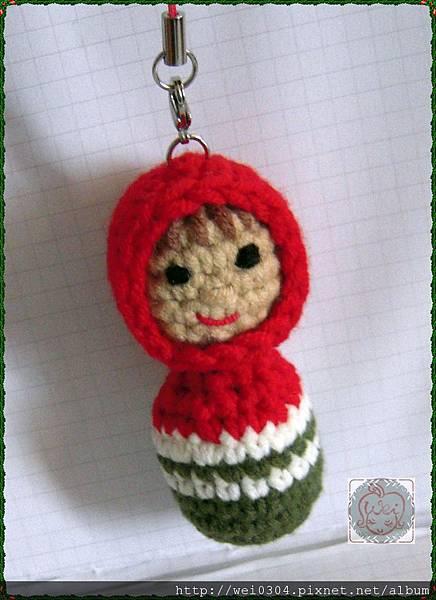 俄羅斯娃娃手機吊飾
