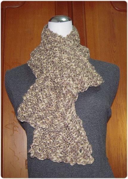 起伏針圍巾.2014.10