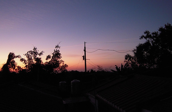 外婆家的日落