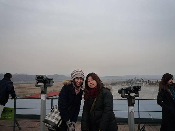 從這裡好像可看到北韓的樣子