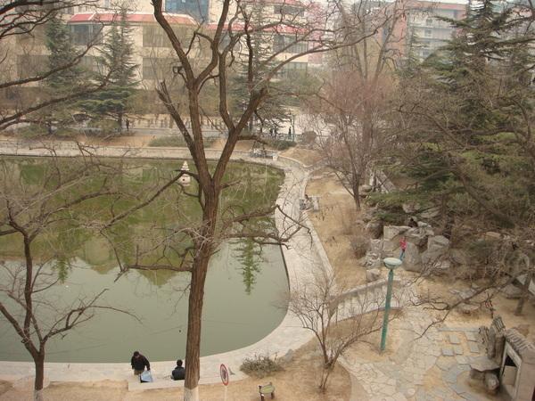 0308  從思源東樓三樓往下可以看到明湖
