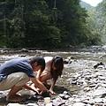 第二天  兩個鄉下小孩很興奮的在抓魚抓蝦 XDD