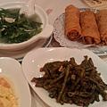20110612 銀魚莧菜、干扁四季豆、鮮蝦腐皮捲
